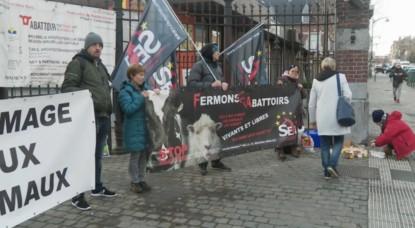 Hommage Animaux - Manifestation abattoirs d'Anderlecht - Capture BX1