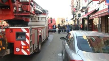 Laeken : incendie sous un commerce rue Marie-Christine