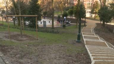 Le parc Léopold réaménagé est désormais rouvert au public