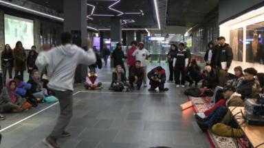 La station de métro Bourse transformée en piste de danse pour le festival Darna