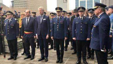 La police fédérale et bruxelloise rendent hommage à leur agents tombés en mission
