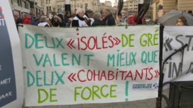 Une centaine de manifestants à Bruxelles pour que les droits au chômage soient individuels