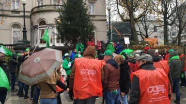 Action syndicale au service voirie d'Ixelles ce mardi