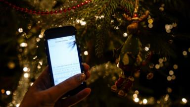 Vœux de Noël par SMS : diminution de 12% par rapport à l'année dernière