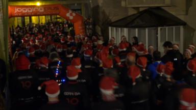 """La Manneken-PisCorrida : une course à pied""""détox"""" après le réveillon de Noël"""