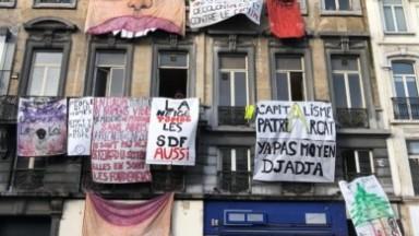 Logement : réquisition collective d'un immeuble Place de Brouckère pour dénoncer le mal-logement