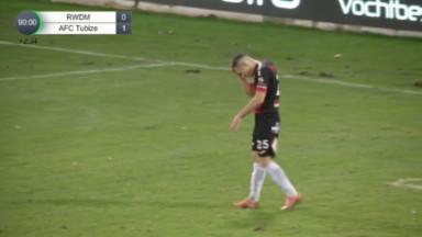 Nouvelle défaite pour le RWDM face à Tubize (0-1)