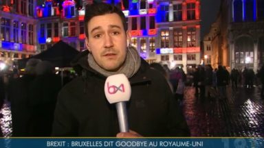 La Grand-Place aux couleurs de l'Union Jack à la veille du Brexit