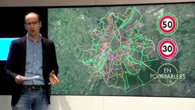 Zone 30 généralisée à Bruxelles: voici la carte des limitations proposées par la Région