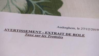 """Auderghem : des propriétaires surpris par la """"taxe sur les trottoirs"""""""