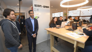 Le patron de Google en visite à Molengeek