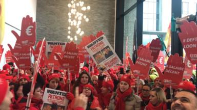 350 aides-ménagères manifestent à Bruxelles pour un salaire décent