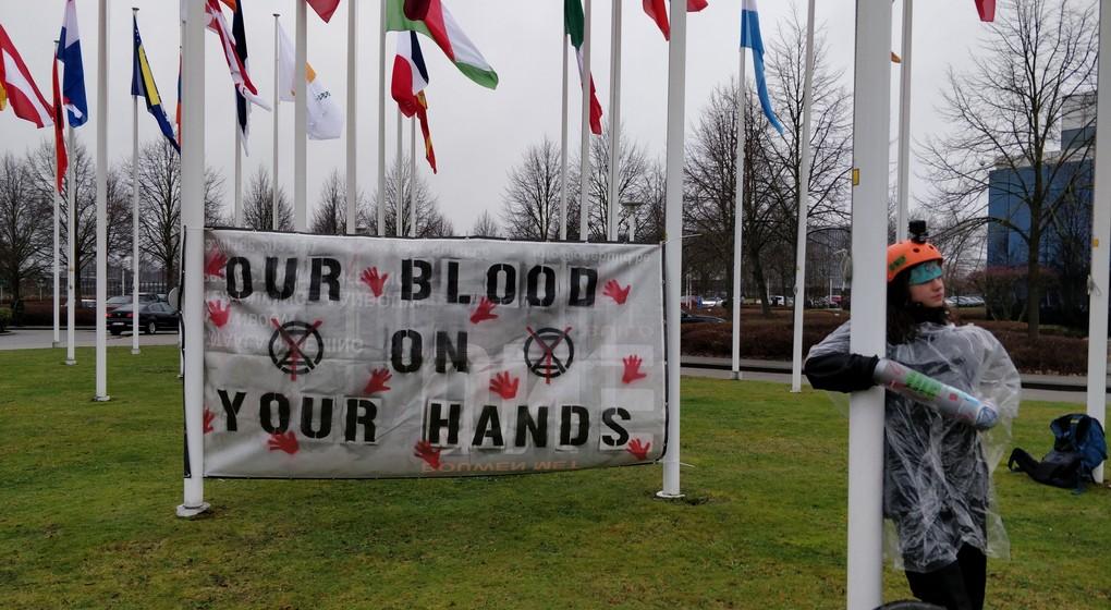 Manifestation Extinction Rebellion - Eurocontrol - Belga Anthony Gevaert