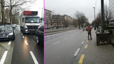 Boulevard Reyers : Cécile Jodogne demande à Bruxelles-Mobilité des mesures pour les cyclistes et piétons