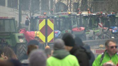 Les tracteurs quittent la capitale : des embarras de circulation sont attendus