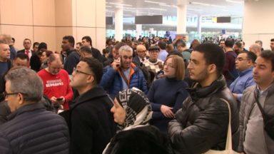 Action à Brussels Airport : au moins trois quarts d'heure de files au départ des vols non-Schengen