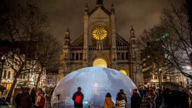 Le vent menace des installations au Bright Brussels of Light