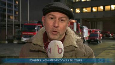 Tempête Ciara : près de 100 interventions des pompiers ce lundi à Bruxelles
