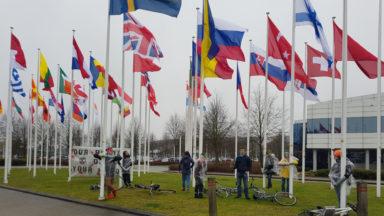 Une quinzaine de jeunes d'Extinction Rebellion a mené une action à Eurocontrol