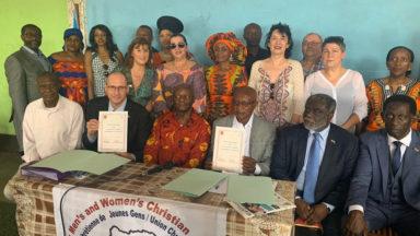 Ganshoren : signature d'un partenariat entre les écoles communales et celles du YMCA congolais