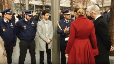 Le couple royal à New-York avec des policiers touchés lors des attentats de Bruxelles