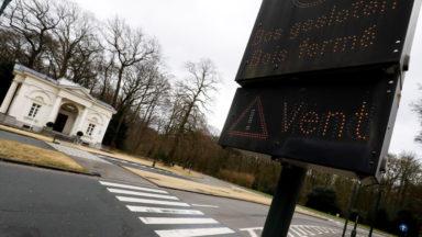 Avis de tempête : les parcs bruxellois fermés de samedi soir à lundi matin