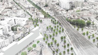 Réaménagement des abords de la Gare du Midi : le PAD prévoit la suppression de 350 places de parking