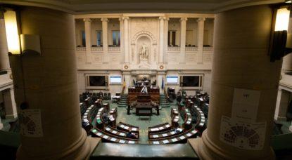 Chambre - Parlement fédéral - Vide avec coronavirus - Belga Benoit Doppagne