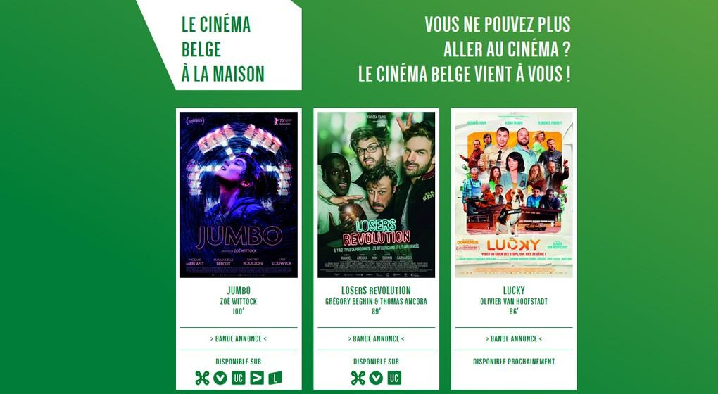 Cinéma belge à la maison - Site internet