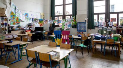 Classe primaire vide - Ecole - Illustration Belga Eric Lalmand