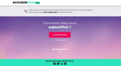 Covid19Stop - Page Accueil