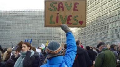 Une manifestation pour l'ouverture des frontières européennes aux migrants ce mercredi à Bruxelles