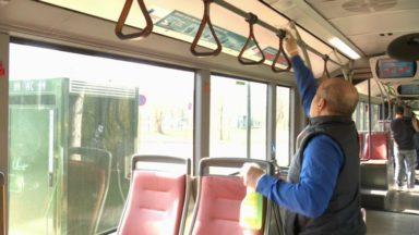 Coronavirus : voici comment les équipes de la Stib assurent le nettoyage des transports