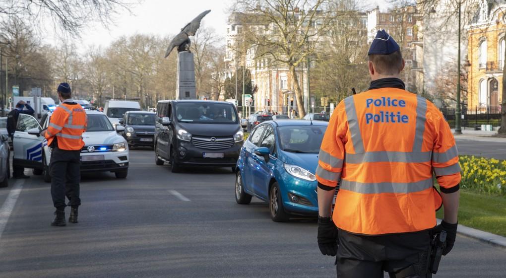 Police Contrôle Avenue Franklin Roosevelt - Belga Paul-Henri Verlooy
