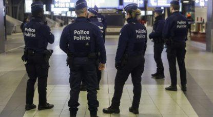 Police - Gare de Bruxelles-Midi - Belga Thierry Roge