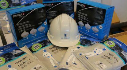 Régie des Bâtiments - Masques protection FFP3 et combinaisons