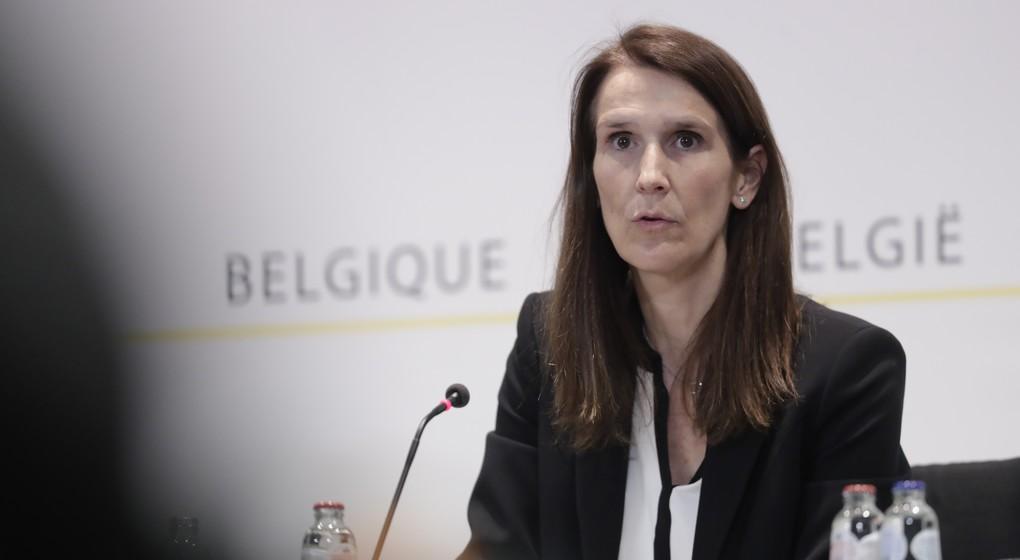 Sophie WIlmes - Conférence de presse Conseil national de sécurité 27032020 - Belga Olivier Hoslet