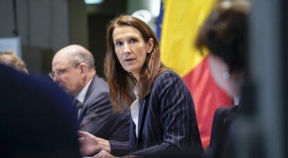 Sophie WIlmes - Conseil national Sécurité - Belga Daina Le Lardic