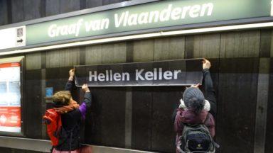 Le collectif Noms Peut-être renomme les stations de métro pour mettre les femmes à l'honneur