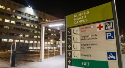 UZ Brussel - Panneau Brussels Health Campus - Belga Paul-Henri Verlooy