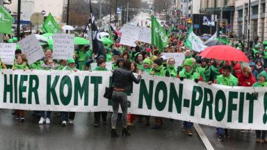 Environ 8500 participants à la manifestation du secteur non-marchand