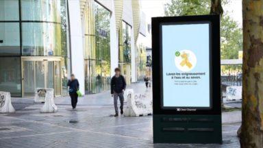 La Ville de Bruxelles communique sur le coronavirus via ses affichages publicitaires