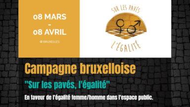 """Laeken : 4ème édition de la campagne """"Sur les pavés, l'égalité"""""""