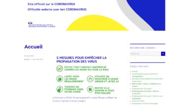 Coronavirus: la Région lance un site internet et une campagne d'affichage