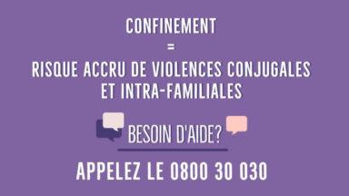 Confinement : un risque accru de violences conjugales et intra-familiales