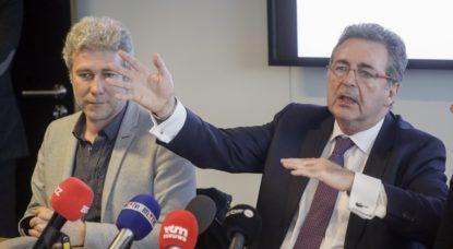Alain Maron - Rudi Vervoort - Belga Thierry Roge