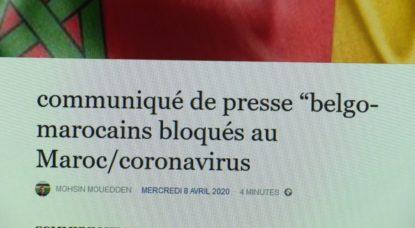 Belgo-Marocains bloqués Coronavirus - Communiqué de presse