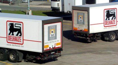 Camions Delhaize - Belga Herwig Vergult