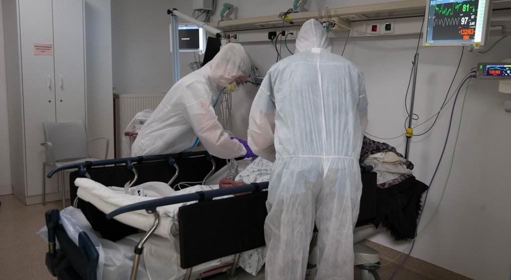Coronavirus - Patient soigné hôpital - Belga Nicolas Maeterlinck