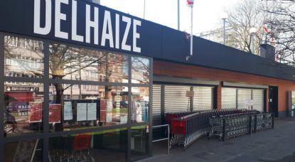 Delhaize Veeweyde en Grève - Belga